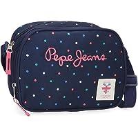 Pepe Jeans Molly Bandolera Dos Compartimentos Azul 23x17x8 cms Poliéster
