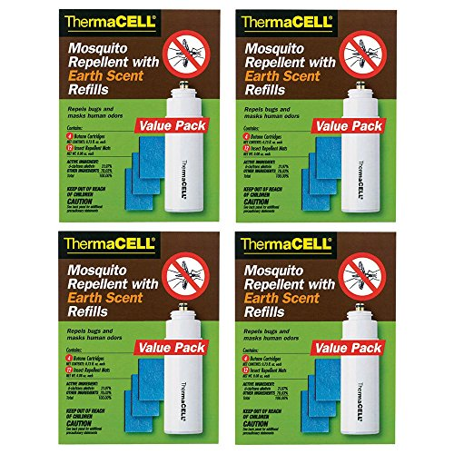 (Thermacell E-4 Mosquito Repeller Refill with Earth Scent, Four 48-Hour Packs (48 Mats + 16 Fuel Cartridges))