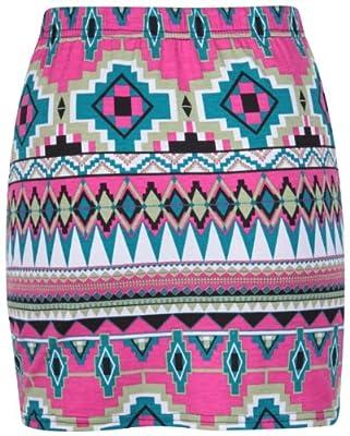 PurpleHanger Women's Animal Stripe Print Short Mini Skirt