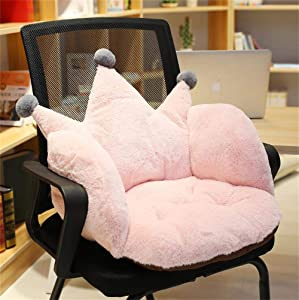 Crown Office Soft Cushion Plush Comfort Seat Pad Cozy Warm Seat Pillow Armchair Seat Support Relieves Back Coccyx Sciatica and Tailbone Pain Relief Chair Cushions for Home Office Sofa Car Wheelchair