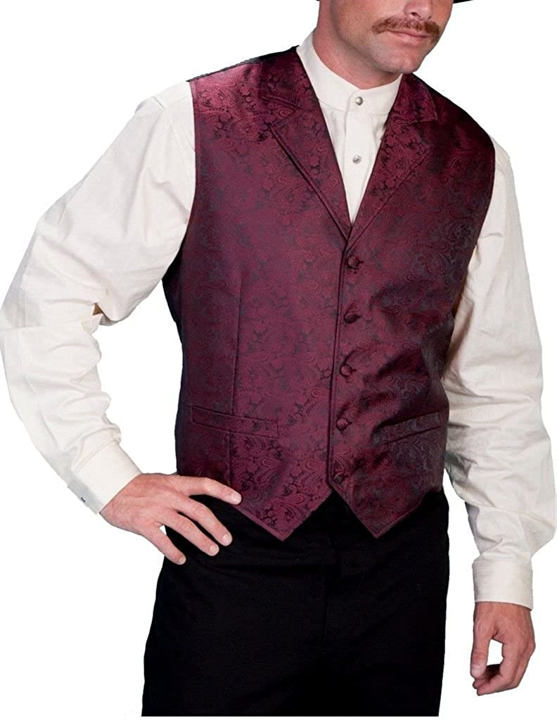 Scully Paisley Vest,RW093-BUR