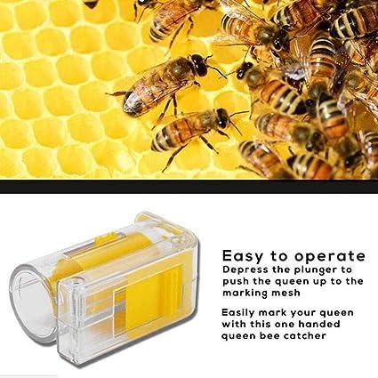 1pc Bee Queen Marking Marker Cage Bottle with Plunger Beekeeping Beekeeper Tool