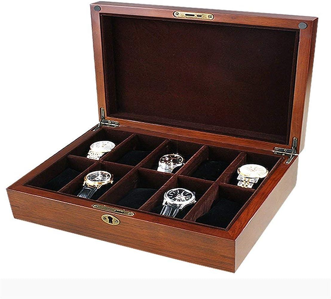 Joy-Time - Caja organizadora para 10 Relojes (Madera): Amazon.es ...