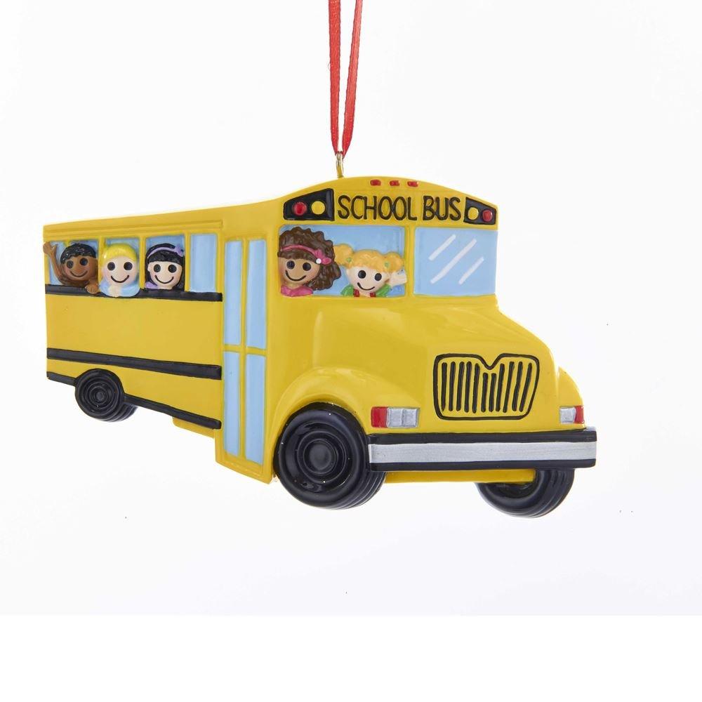 Kurt Adler 4.5'RESIN SCHOOL BUS ORNAMENT