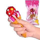 "VLAMPO Squishy Toys Squishies Soft Slow Rising Round Ice Cream Cone 6.5"" 1 Piece"
