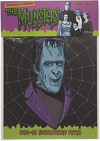 The Munsters Retro-a-go-go Iron On Applique Patch Lily Munster