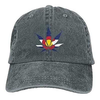 New Baseball Caps Weed Colorado Flag Denim Female Casual Personalized Snapbacks Hats from WAZH