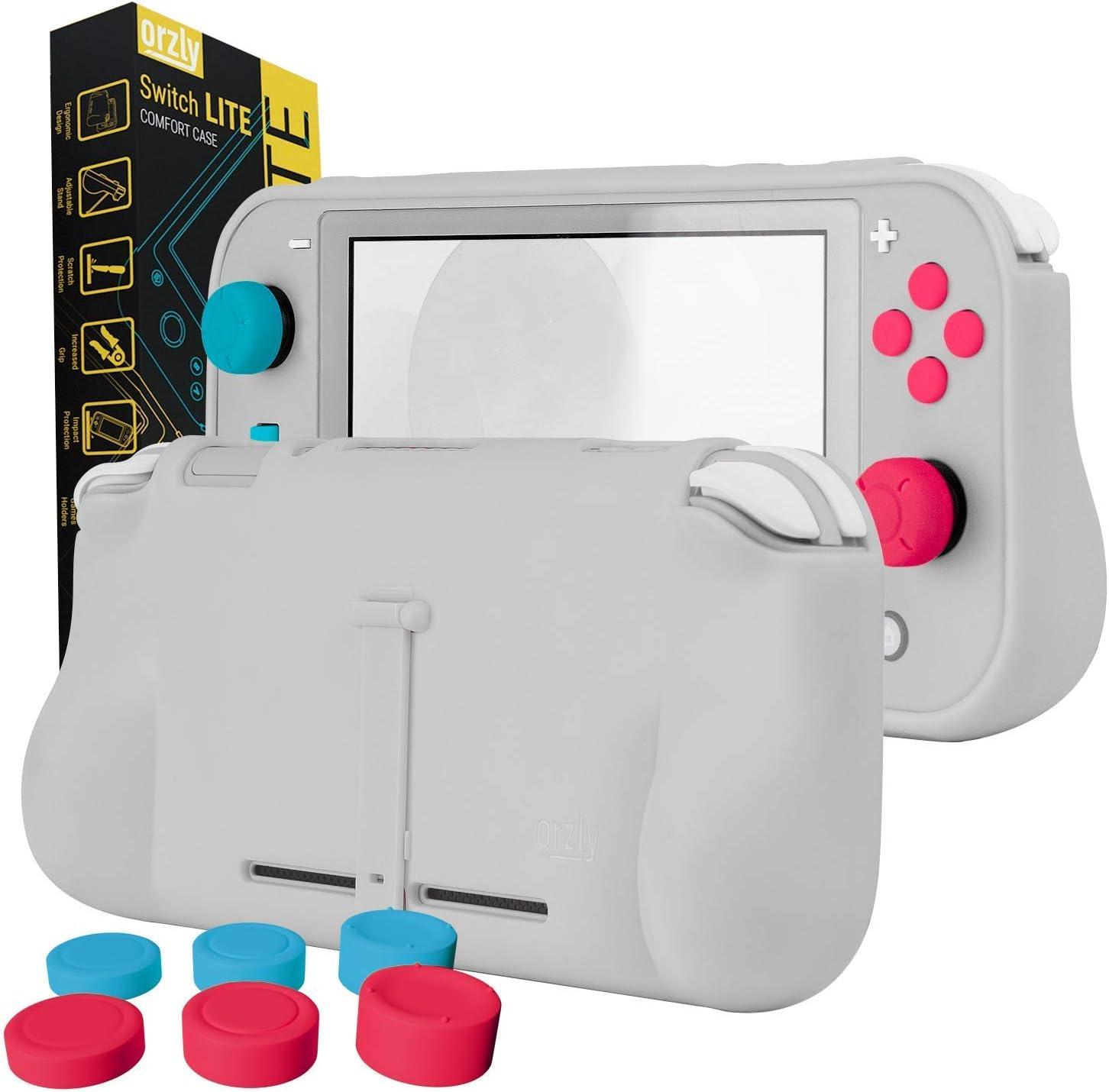 Funda para la Nintendo Switch Lite – Comfort Grip Case, Carcasa protectora con puños de mano rellenos integrados para la parte posterior de la consola Switch Lite, Con soporte plegable: Amazon.es: Electrónica