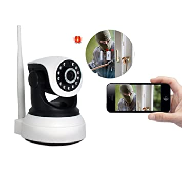 Cámara seguridad IP Wifi Camera sin hilos, 720p Wireless Video Vigilancia, Home Videocámara de
