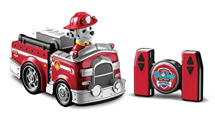 amazon com paw patrol my first rc marshall rescue racer remote