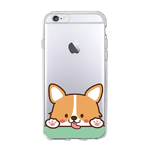 Amazon.com: Cute Corgi Butt Animal Puppy Soft Clear Phone ...
