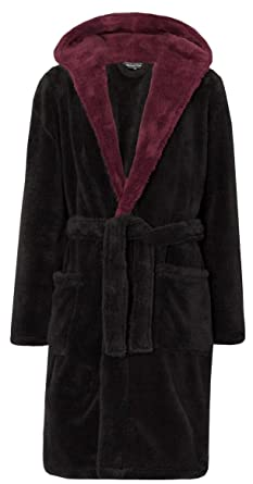 Michael Paul Mens Hooded Soft Cosy Snuggle Fleece Dressing Gown