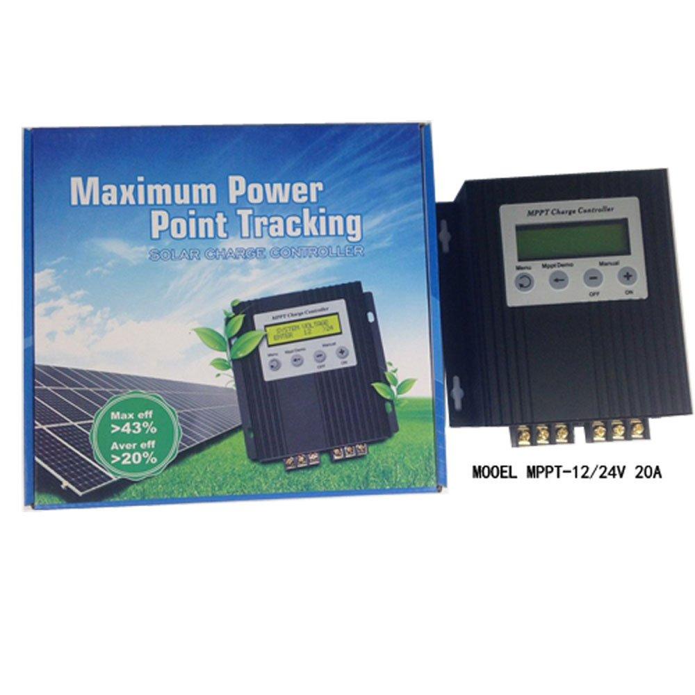 guangshun 20 A 12 V/24 V MPPT con pantalla LCD Solar regulador Solar controlador de carga Xiamen Guang Shun Ji Dian Tech Co. Ltd MPPT-01