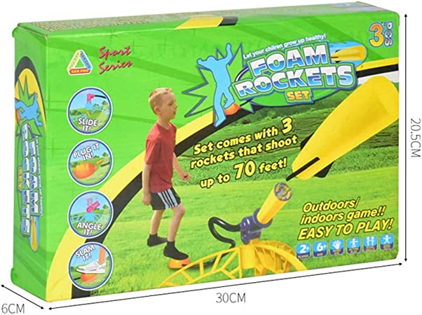 TOYANDONA 1 Set of Rocket Launcher Toy Outdoor Foam Rocket Toy for Boys and Girls Gift