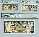 Disney Dollars 2009 Matching Set T00000550 $1 $5 $10 PMG 65/66/63 EPQ