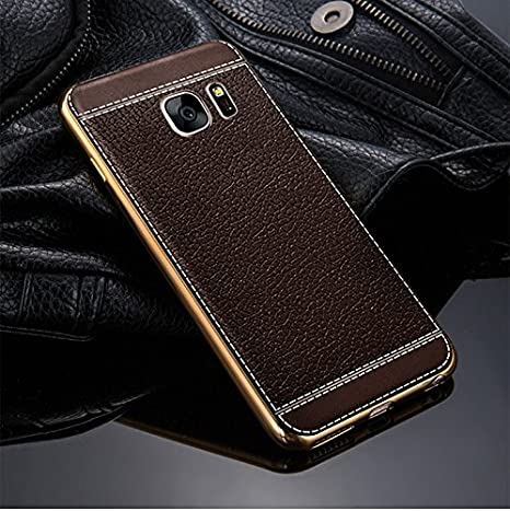 the latest 1bcd3 66112 Excelsior Premium Silicon Back Cover case for Samsung Galaxy S7 Edge -  Coffee
