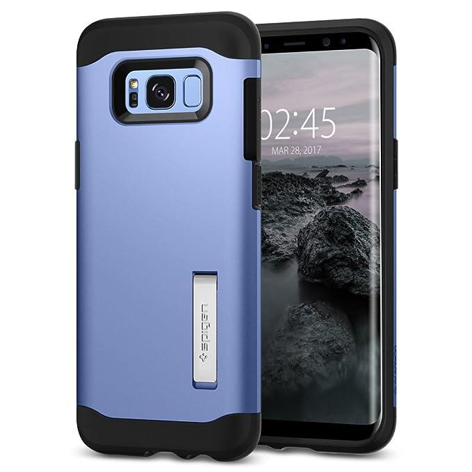 Spigen Funda Galaxy S8, Carcasa [Slim Armor] Tecnología de cojín de Aire y protección híbrida de caída para Galaxy S8 2017 - Coral Azul