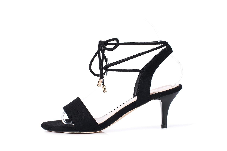 Noir CXQ-Sandales QIN&X Femme Peep Toe Stiletto Heels 36 EU
