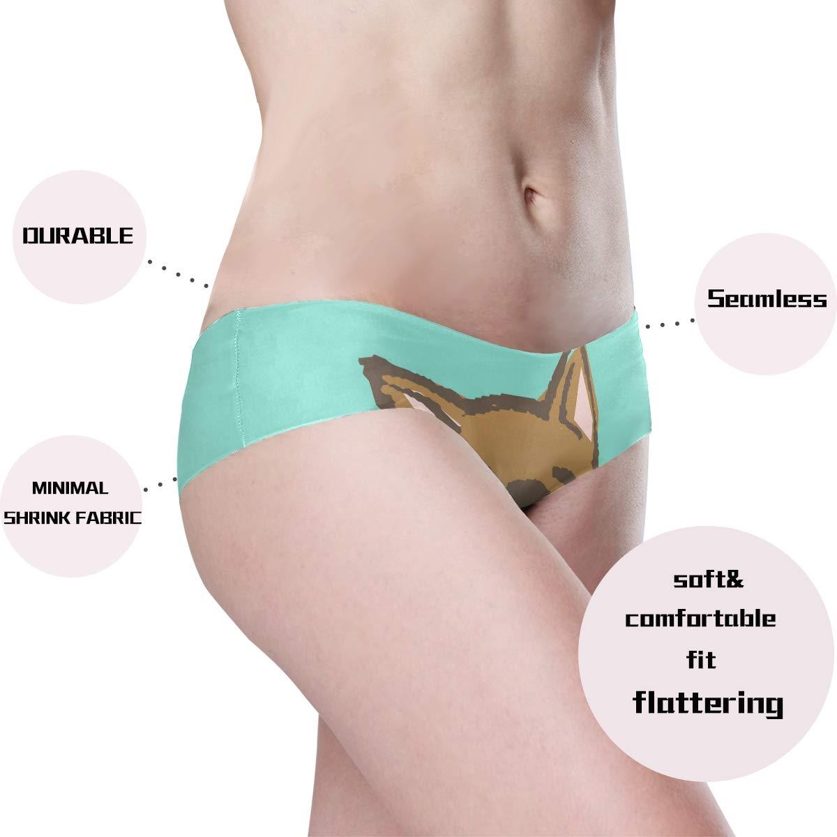 DEZIRO Shiba Inu Womens Panties Seamless Panties Soft Stretch Bikini Underwear