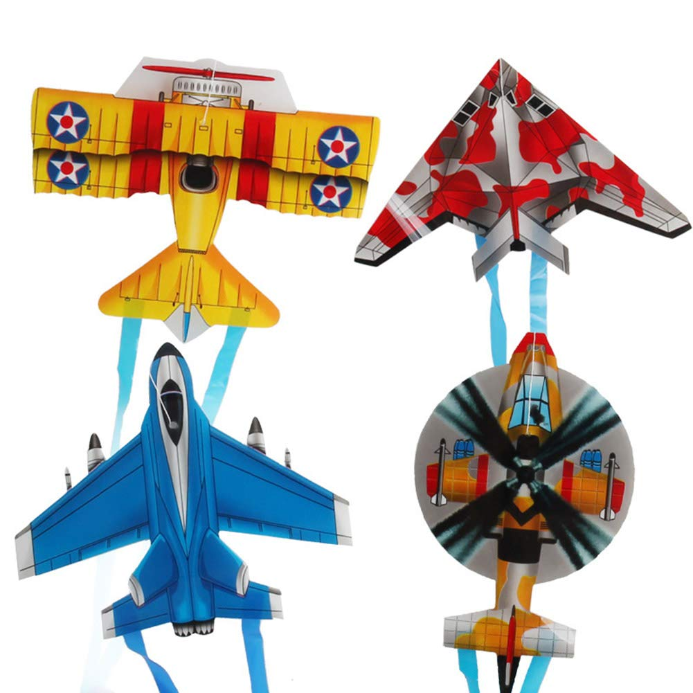 SuBoZhuLiuJ Mini Kite, Insect Butterfly Plane Outdoor Sports Mini Kite Children Interactive?Flying Toy - Plane Random Style&Color