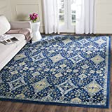 Safavieh Evoke Collection EVK224A Contemporary Bohemian Royal Blue and Ivory Area Rug (3′ x 5′) Review