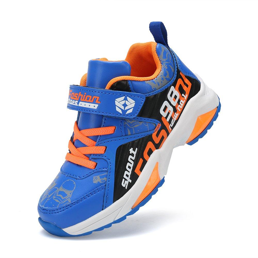 Feetmat Kids Sneakers Waterproof Outdoor Hiking Athletic Running Shoes Blue/Orange