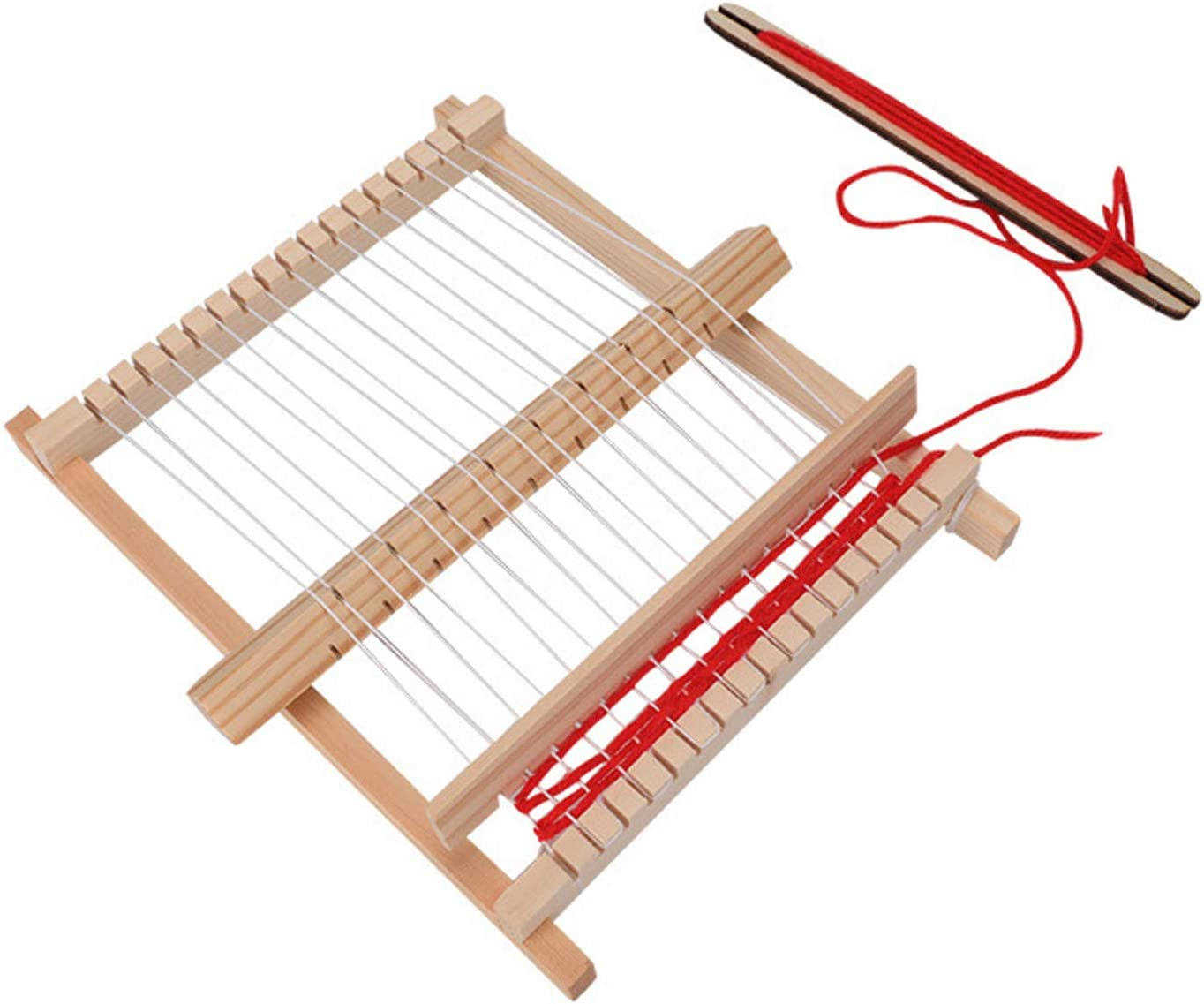 Bigjigs Toys Wooden Weaving Loom for Kid/'s Children Arts Crafts