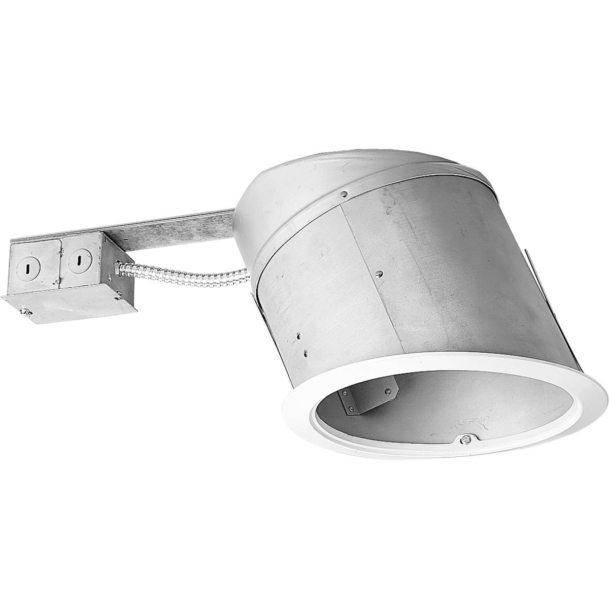 Progress Lighting P245-TG Ic Remodel Housing UL/CUL Listed For Damp Locations and Installed in Ceilings, 1/2-Inch to 1-1/2-Inch Thickness