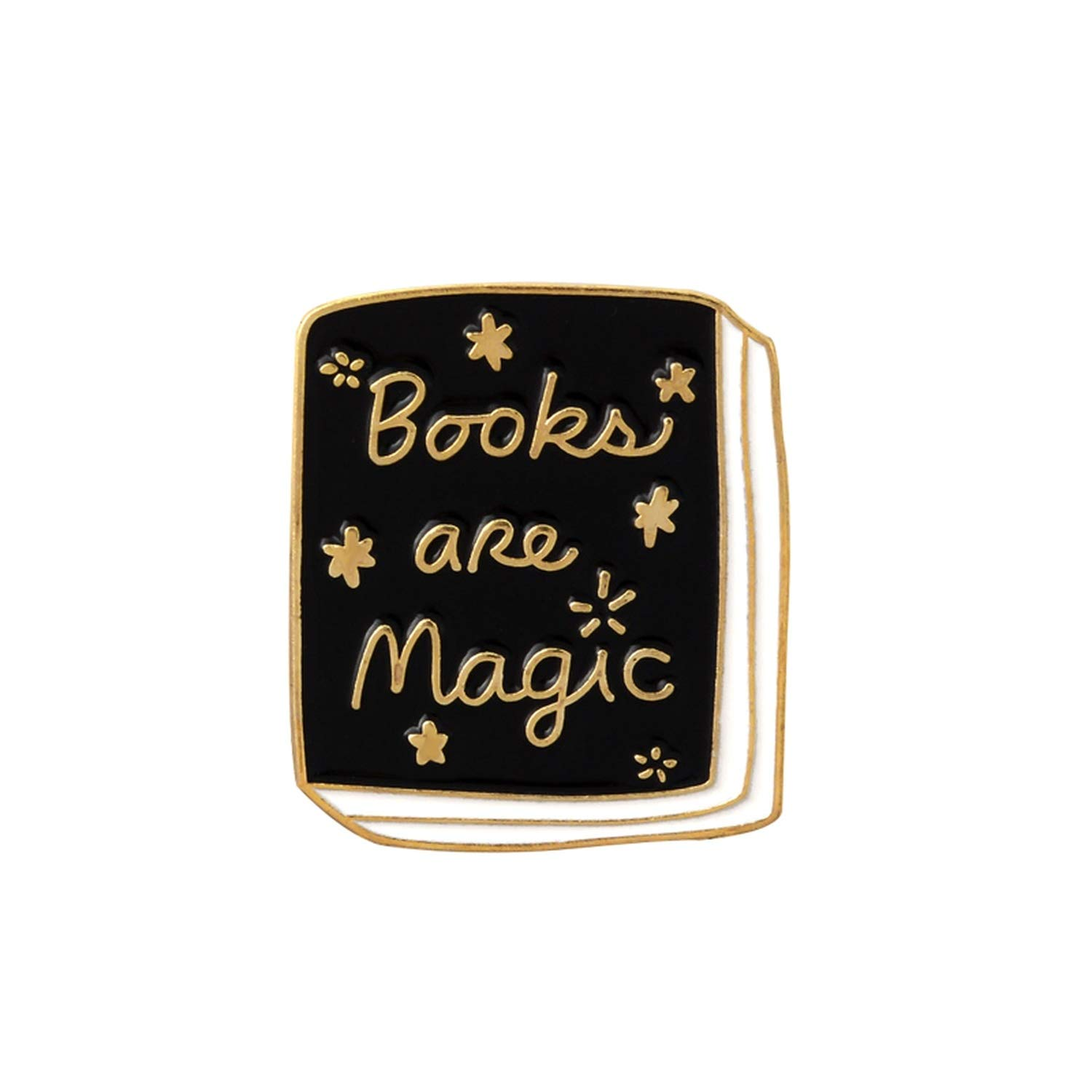 Books Brooch Witch Magic Book Hedgehog Reading Magic Crystal Painting Pencil Enamel Pin Reader Gift