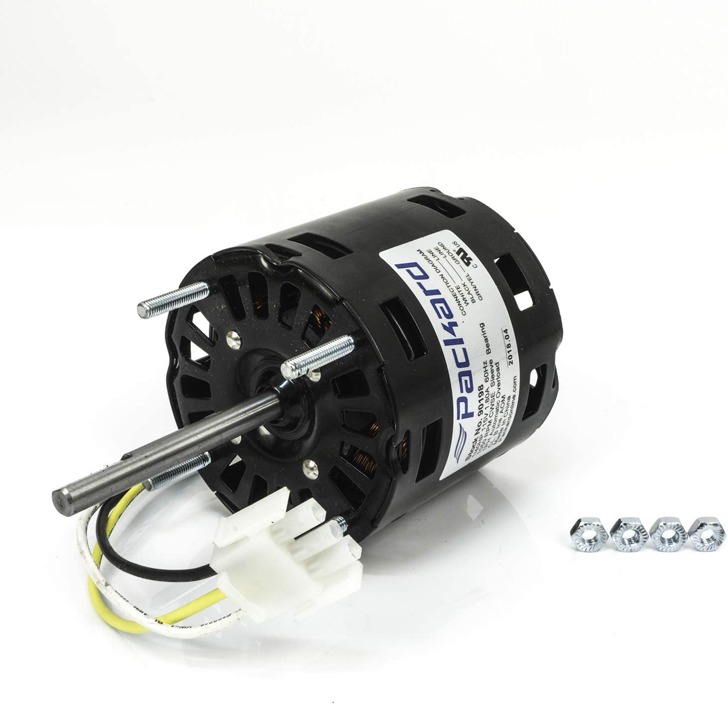 """Packard 90198 3.3"""" Dia. Motor 1/40 HP 115 Volts 1050 RPM Replaces Greenheck"""