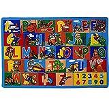 Mybecca Kids Rug ABC-1 Numbers 8 x 10 Children's Educational Learning Rug 7' feet 2\
