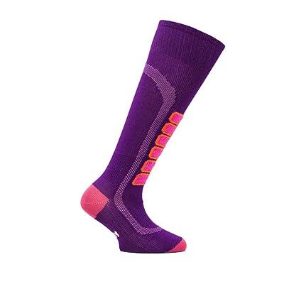 .com : Eurosock Silver Light Junior Ski Socks, 3X-Small, Purple : Clothing