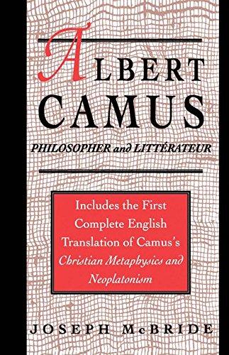 Albert Camus: Philosopher and Littrateur by Joseph Mcbride