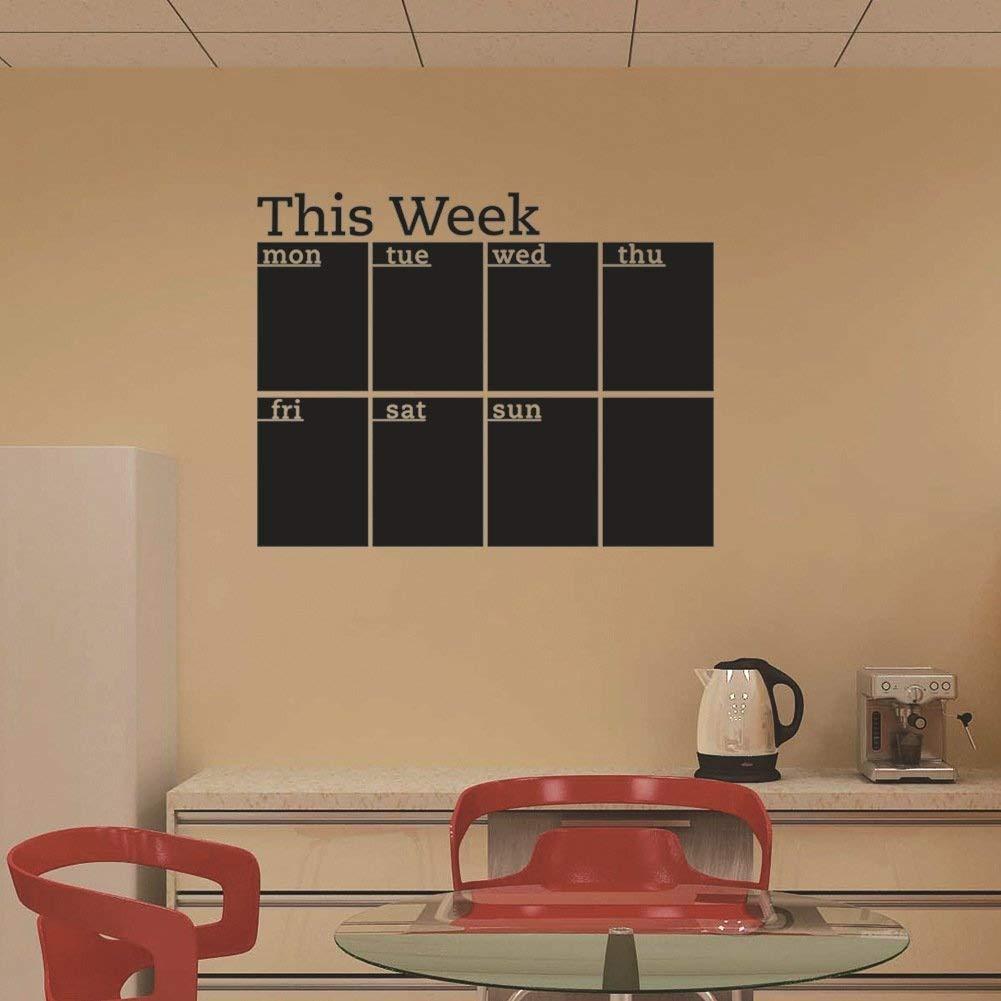 Guangshuohui Calendario de Pizarra con diseño de Notas para ...