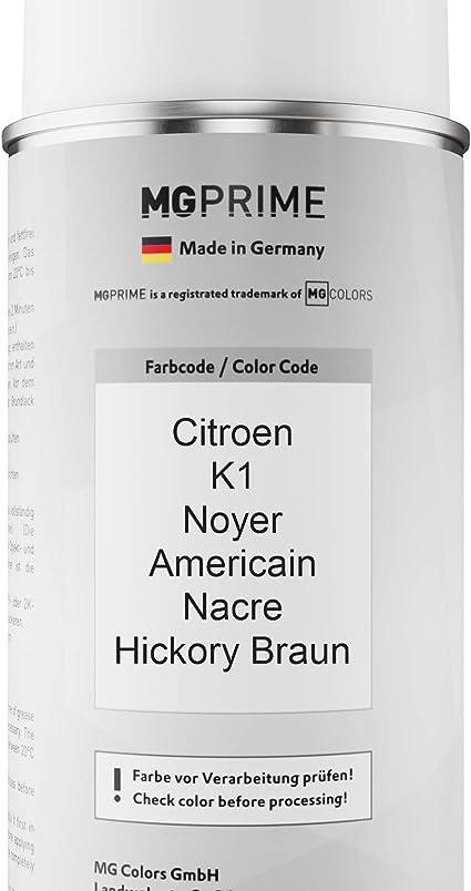 Mg Prime Autolack Sprühdosen Set Für Citroen K1 Noyer Americain Nacre Hickory Braun Basislack Klarlack Spraydose 400ml Auto