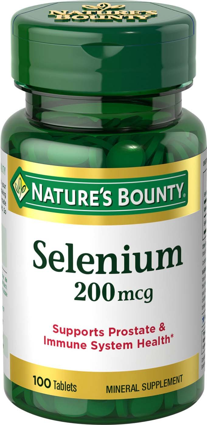 Nature's Bounty Selenium 200 mcg, 100 Tablets (Pack of 3)