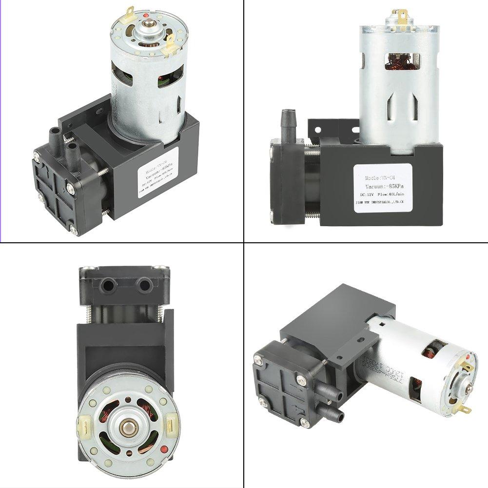 OKBY Vacuum Pump - 1pc DC12V 42W Mini Small Oilless Vacuum Pump -85KPa Flow 40L/min by OKBY (Image #2)