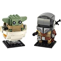 LEGO BrickHeadz Star Wars The Mandalorian & The Child 75317 Building Kit, New 2020 (295 Pieces)