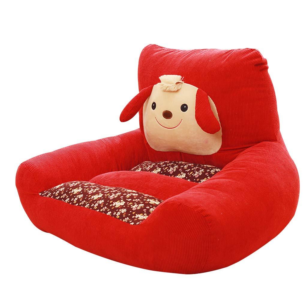 CFJRB 小さなシングルソファ子供のスツールPPコットンパッディングリビングルーム、ベッドルーム (色 : Red, サイズ さいず : 46X70cm) B07MM6MYMD Red 46X70cm