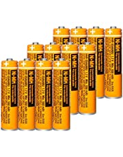 $25 » 12PCS NI-MH AAA Rechargeable Battery for Panasonic HHR-55AAABU 1.2V Replacement Battery