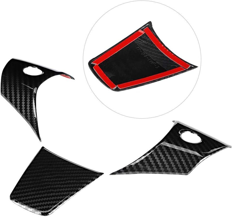 Cuque Carbon Fiber Style Steering Wheel Trim Cover Decoration Sticker Car Interior Accessory Fits for Tesla Model 3 2018 2019