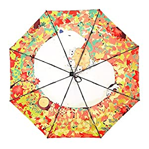 TianQi Polar Bear & Cats Lovely Umbrella UV Protection Sun Rain Travel Umbrella