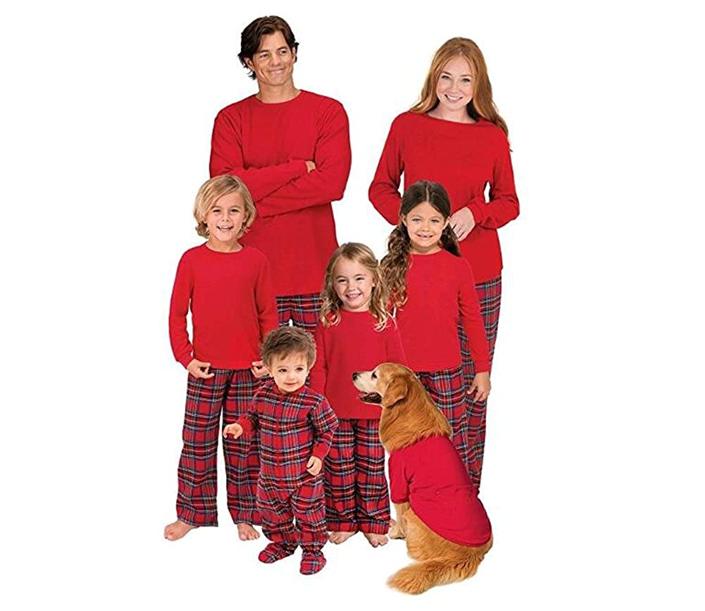 U-WARDROBE Red Matching Family Christmas Pajama Set
