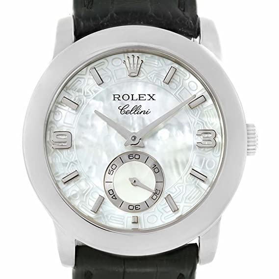 Rolex Cellini mechanical-hand-wind reloj para hombre 5240/6 (Certificado)