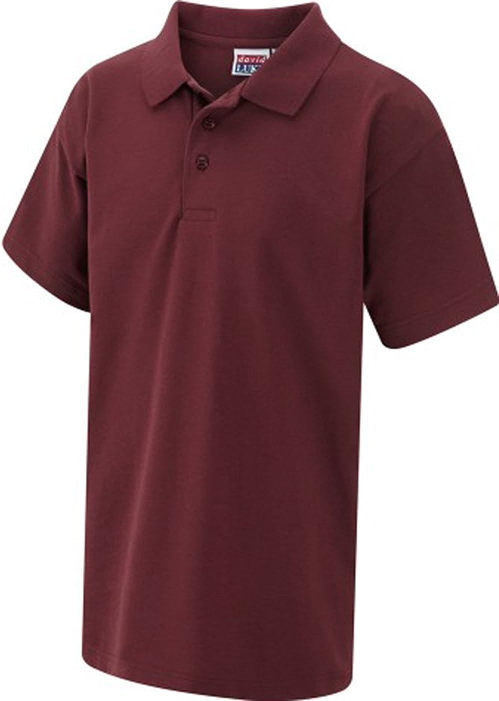 David Luke Childrens Schoolwear Unisex Kids School Uniform Shirt Classic Pique Poloshirt