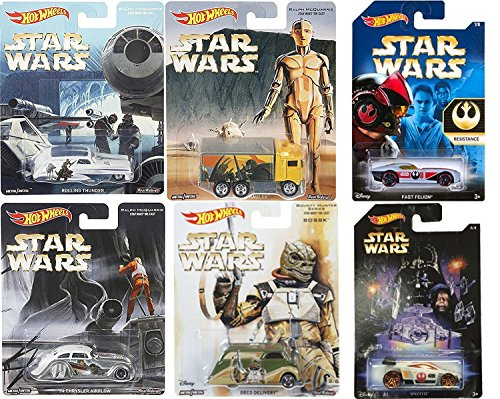 Exclusive Empire Strikes Star Wars Hot Wheels Spectyte & Resistance Fast Felion / Ralph McQuarrie C3-PO Hiway Hauler Truck / Chrysler Airflow Rolling Thunder / Bossk Bounty Hunter Deco Delivery cars (Game Rolling Thunder)