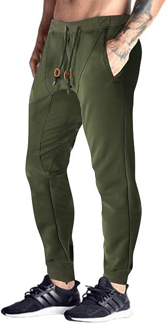 Amazon Com Modchok Pantalon Tipo Jogger Para Hombre Pantalones Para Correr Xxl Verde Militar Clothing