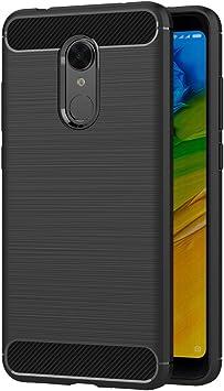 AICEK Funda Xiaomi Redmi 5 Plus, Negro Silicona Fundas para ...