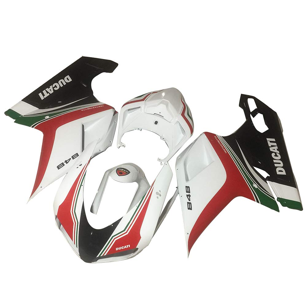 Ayouyue Compelete Painted Motorcycle Bodywork Fairing Kit fit for Ducati 848 2008-2010