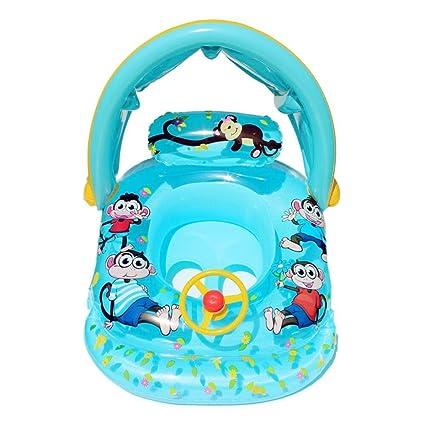 Artistic9 Barco flotador, para bebé, para niños, hinchable para piscina, con asiento